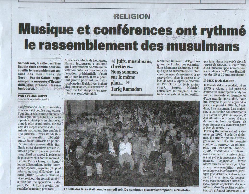 7e rencontre annuelle des musulmans du nord
